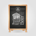 Beer in mag. Chalk drawing Royalty Free Stock Photo