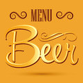 Beer menu banner vector lettering eps available Stock Photography