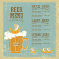 Beer menu with mug and ships on vintage background Royalty Free Stock Photos