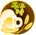 Beer of mug Royalty Free Stock Images