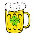 Beer mug icon, icon cartoon