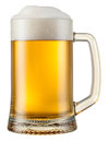 Beer mug isolated with clipping path on white Stock Photos