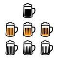 Beer mug symbols Royalty Free Stock Photo