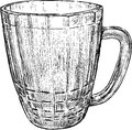 Beer mug vector sketch of an old Royalty Free Stock Image