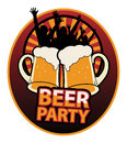 Beer Party label Royalty Free Stock Photo
