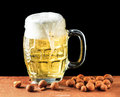 Beer and peanuts a with chinese Royalty Free Stock Photos