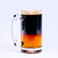 Beer pint full glass of dark on a white background Stock Photo