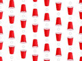 Beer Pong Background Seamless Pattern 1 Royalty Free Stock Images
