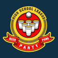 Beer pong party logo Royalty Free Stock Photo