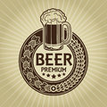 Beer Premium Retro Styled Seal / Label Royalty Free Stock Image