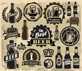 Beer pub labels vector color icons set Royalty Free Stock Photos