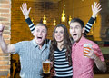 Beer pub young people are expressing in the Stock Photos