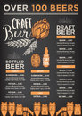 Beer restaurant cafe menu, template design.