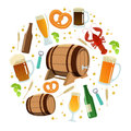 stock image of  Beer round template