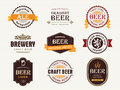 Beer seals and stamps collection of Royalty Free Stock Images