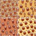 Beer seamless background for design