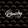 Beer Seamless Pattern. Brewery hand written lettering.