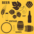 Beer set isolated objects vector illustration eps Stock Photography