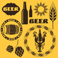 Beer set isolated objects vector illustration eps Stock Image
