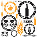 Beer set isolated objects on white background vector illustration eps Royalty Free Stock Photography