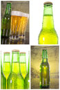 Beer set row of bottles see my other works in portfolio Royalty Free Stock Photography