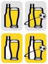 Beer and soccer icons Stock Images
