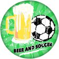Beer and soccer sports bar sign illustration grungy style Stock Images