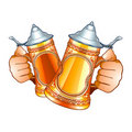 Beer steins Stock Photo