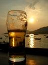 Beer sunset Stock Photos