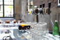 Beer tap and glasses
