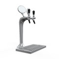 Beer tap isolated on white background d render Royalty Free Stock Images
