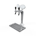 Beer tap isolated on white background d render Stock Photos