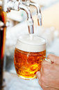Beer on tap in the pub Royalty Free Stock Photos