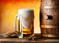 Beer witn wheat Royalty Free Stock Photo
