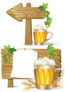 Beer wooden board sign Stock Image