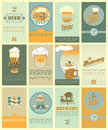 Beers labels set contains the images of design elements for beer's Stock Image