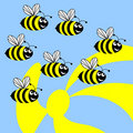 Bees. Royalty Free Stock Image