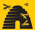 Bees beehive icon beehive symbol Stock Photography