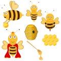 Bees and honey Royalty Free Stock Photo