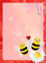 Bees in love illustration of Royalty Free Stock Images