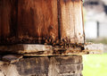 Bees take eaves as their nest in miao village of paibi town huanyuan county western hunan province china Royalty Free Stock Images
