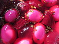 Beet Pickled Hard Boiled Eggs 2 Royalty Free Stock Photo