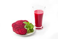Beet root juice healthy eating Royalty Free Stock Photos
