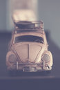 Beetle car vintage toy volkswagen Stock Photo