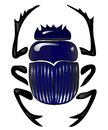 Beetle scarab graphical representation of a egyptian symbol of the sun Royalty Free Stock Images