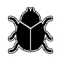 Beetle silhouette isolated icon