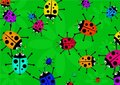 Beetle swarm Stock Photo