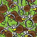 Beetles stags of seamless pattern Stock Images