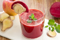 Beetroot ,Apple and Ginger smoothie Royalty Free Stock Photo