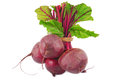 Beetroot bunch isolated on white Stock Image
